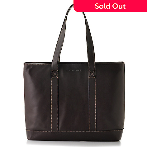 709-413 - Hartmann® ''Nantucket'' Aviator Leather Tote Bag