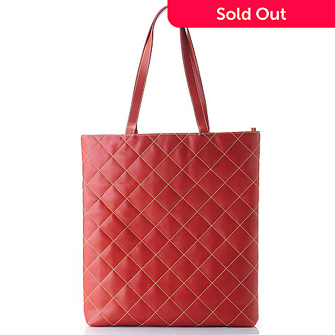 709-414 - Hartmann® ''Palm Beach'' Quilted Belting Leather Tote Bag