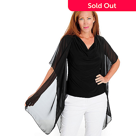 709-493 - aDRESSing WOMAN Chiffon Dolman Sleeved Jacket & Knit Tank Set
