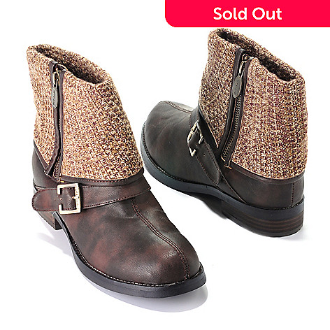 709-559 - Dr. Scholl's® ''Bobbin'' Sweater Cuffed Ankle Boots
