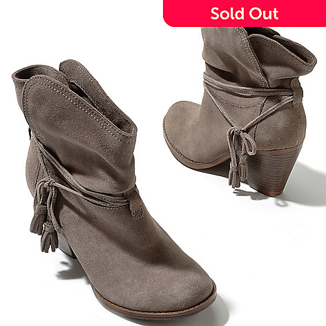 709-579 - MIA ''Dani'' Side Tassel Suede Leather Ankle Boots