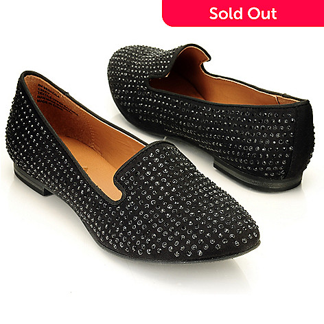709-580 - MIA ''Bedazzle'' Rhinestone Detailed Smoking Loafers