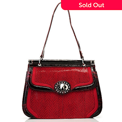 709-685 - Madi Claire Snake Print Leather Shoulder Bag