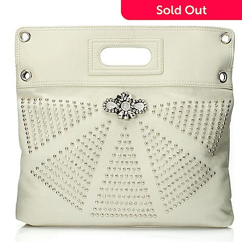 709-686 - Bag Chique Rhinestone & Stud Detailed Cross Body Bag w/ Cut Out Handle