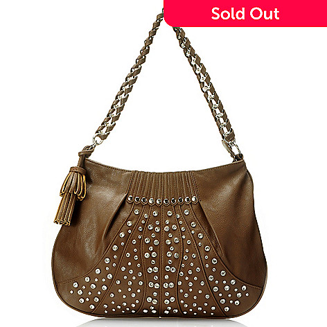 709-694 - Bag Chique Rhinestone Stud Detailed Hobo Handbag