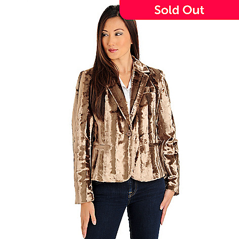 709-706 - WD.NY Button Closure Fitted Faux Fur Jacket