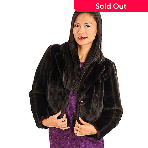 709-709 - WD.NY Cropped Faux Mink Fur Coat