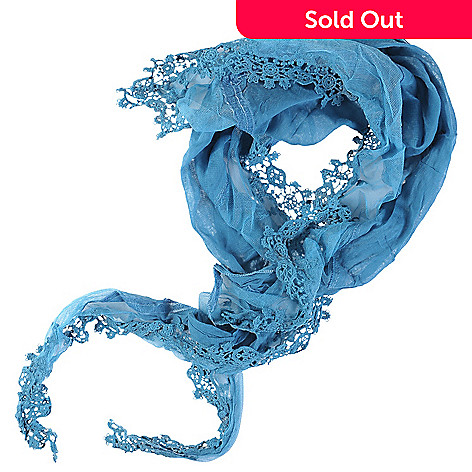 709-737 - Journee Collection Pretty Angel Women's Lace Trim Scarf