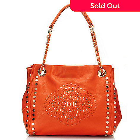 709-791 - Nicole Lee Studded Zip Top Shopper Handbag