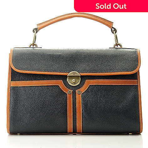 709-938 - PRIX DE DRESSAGE Leather Flap-Over Satchel