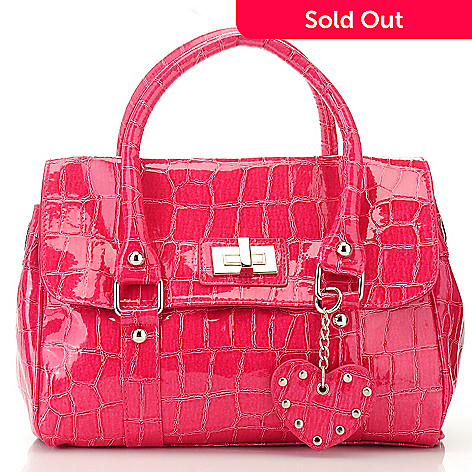709-984 - Chateau Crocodile Embossed Double Handle Satchel