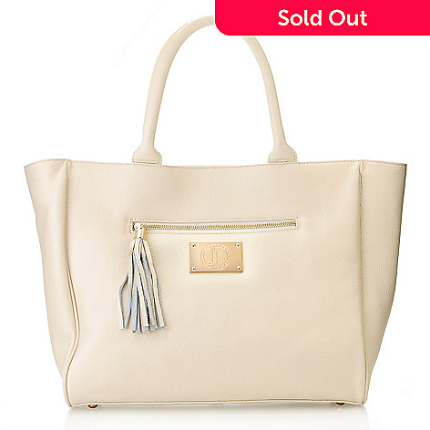 710-009 - Jack French London Leather ''Belgrave'' Tote Bag