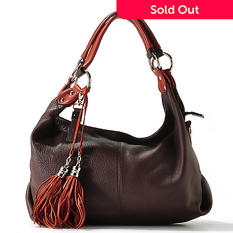 710-025 - Buxton ''Lucca'' Tassel Leather Shoulder Bag