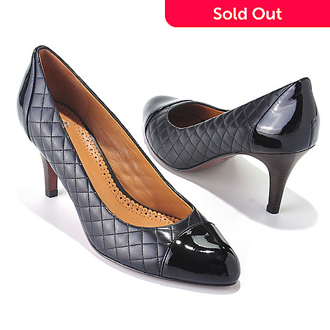 710-034 - Brooks Brothers® Quilted & Patent Leather Pumps