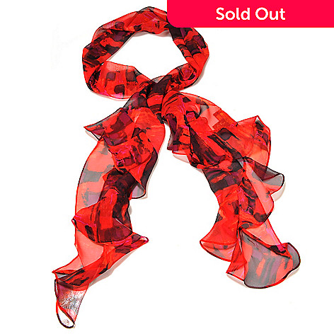 710-042 - Brooks Brothers® Patterned Oblong Silk Chiffon Scarf