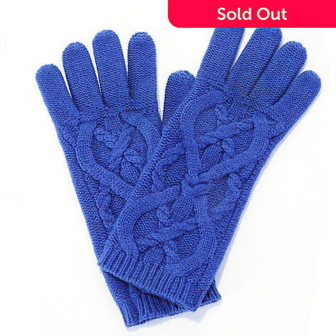710-062 - Brooks Brothers Women's Cashmere & Wool Cable Knit Gloves