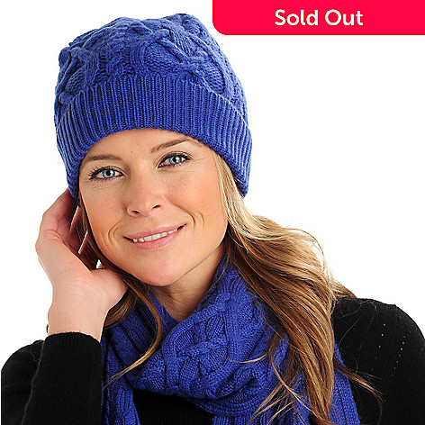 710-064 - Brooks Brothers Women's Cashmere & Wool Cable Knit Hat