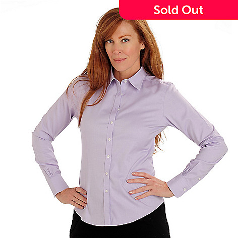 710-069 - Brooks Brothers® Non-Iron Cotton Long Sleeved Button Down Fitted Blouse