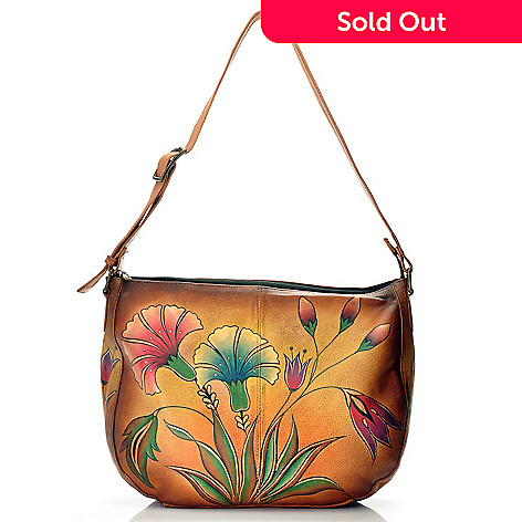 710-124 - Anuschka Hand Painted Leather Large Shoulder Bag