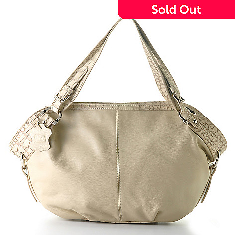 710-136 - Madi Claire Soft Leather ''Sable'' Zip Top Satchel