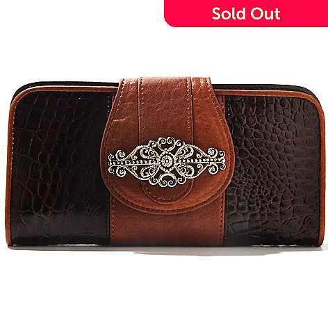 710-295 - Madi Claire Crocodile Embossed Leather ''Kimberly'' Wallet