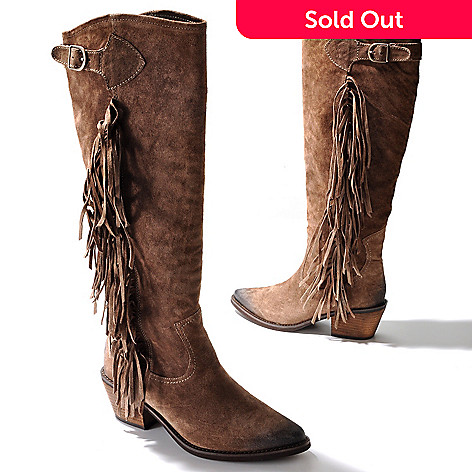 710-317 - Carlos by Carlos Santana ''Ringo'' Fringe Detailed Suede Boots