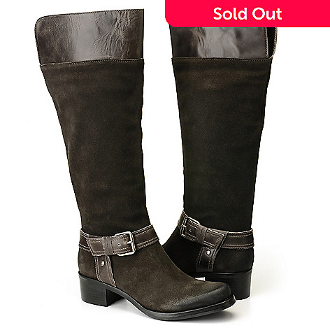 710-511 - Matisse® ''Utah'' Suede Leather Harness Detailed  Riding Boots