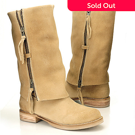 710-513 - Matisse Suede Leather ''Duty'' Zipper Cuffed Boots