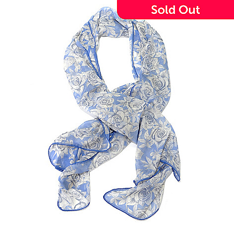 710-520 - Brooks Brothers® 100% Silk Chiffon Sheer Oblong Rose Scarf