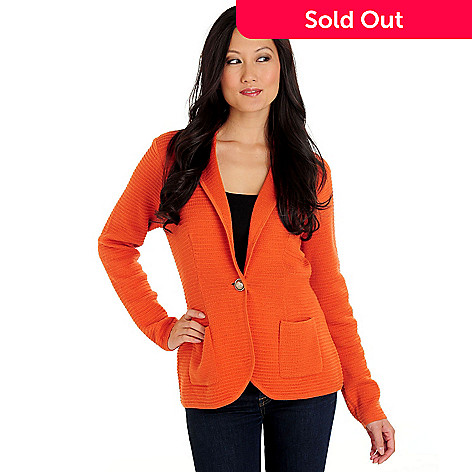 710-580 - WD.NY One-Button Textured Knit Casual Jacket
