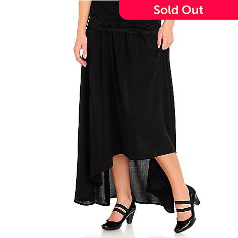 710-586 - WD.NY Hi-Lo Maxi Skirt