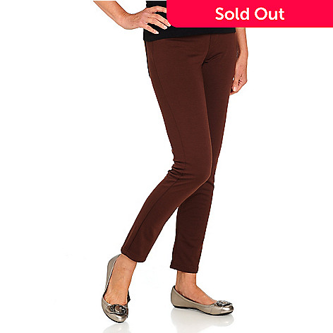710-594 - Kate & Mallory® Stretch Ponte Pocket Detail Pull-on Pants