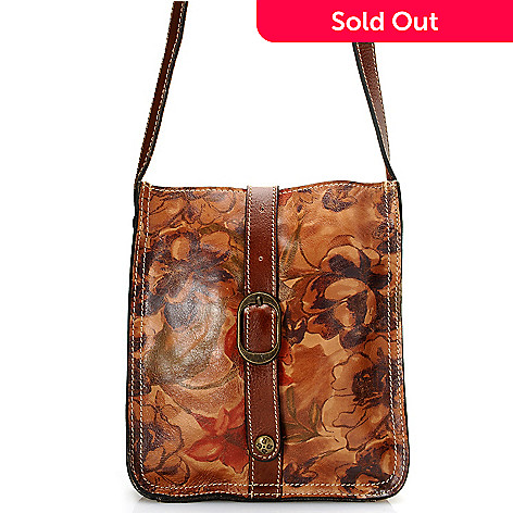 710-602 - Patricia Nash Leather ''Venezia'' Zip Top Cross Body Bag
