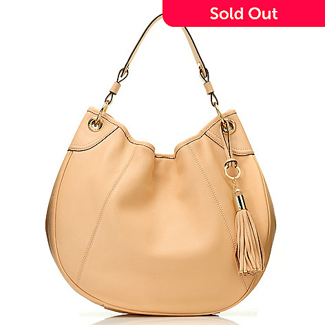 710-681 - Calvin Klein Handbags Pebbled Leather Crescent Hobo