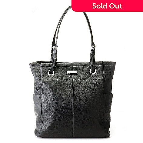 710-699 - Calvin Klein Handbags Pebbled Leather North/South Tote