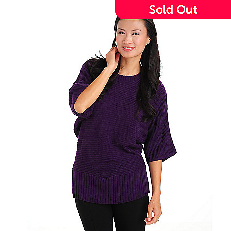 710-754 - Kate & Mallory Short Dolman Sleeved Scoop Neck Knit Sweater