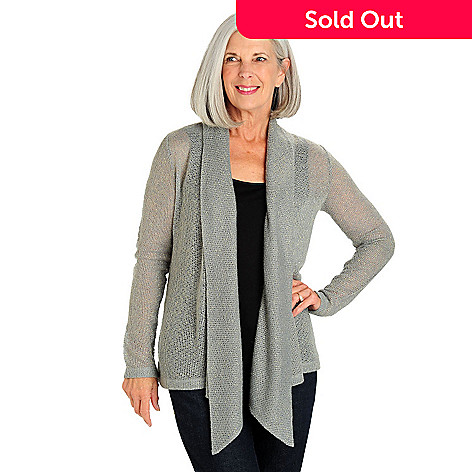 710-763 - Kate & Mallory® Long Sleeved Open Front Shawl Collared Cozy