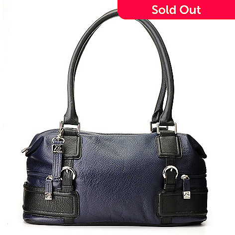 710-771 - Buxton® Leather ''Milano'' Zip Top Satchel