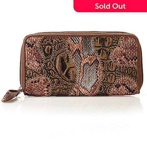 710-774 - Madi Claire ''Patchwork'' Zip Around Leather Wallet