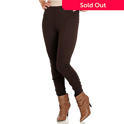 710-792 - Kate & Mallory® Stretch Ponte Tapered Leg Detailed Seam Pants