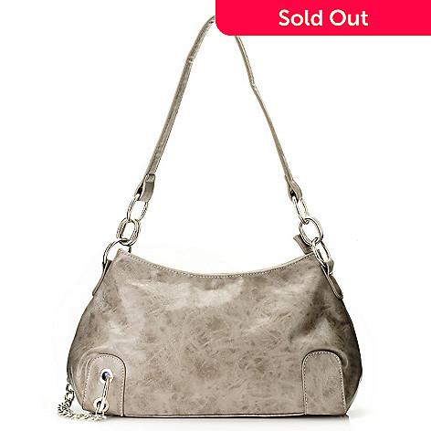 710-833 - Sophisticated Style Chain Link Detailed Shoulder Handbag