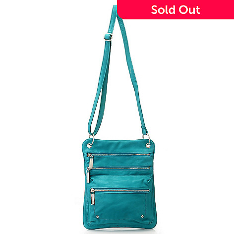 710-836 - Sophisticated Style Zipper Detailed Multi Compartment Cross Body Bag