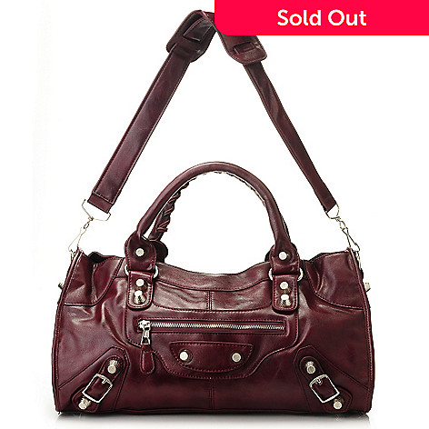 710-838 - Sophisticated Style Double Handle Zip Top Satchel Handbag
