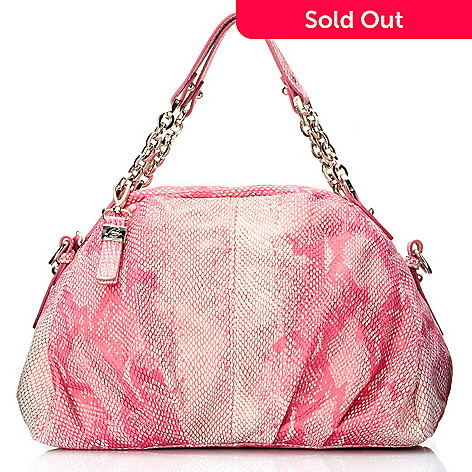 710-848 - Buxton® ''Alessamdria'' Python Printed Leather Hobo Bag