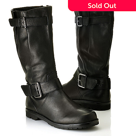 710-855 - Gentle Souls By Kenneth Cole ''Buckled Up'' Buckle Detailed Leather Boots