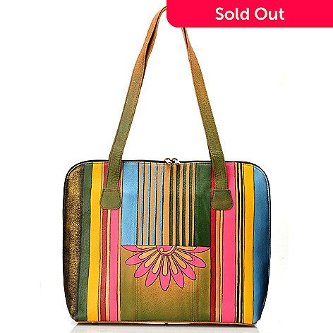 710-862 - Anuschka Hand-Painted Leather Large Laptop Portfolio Bag