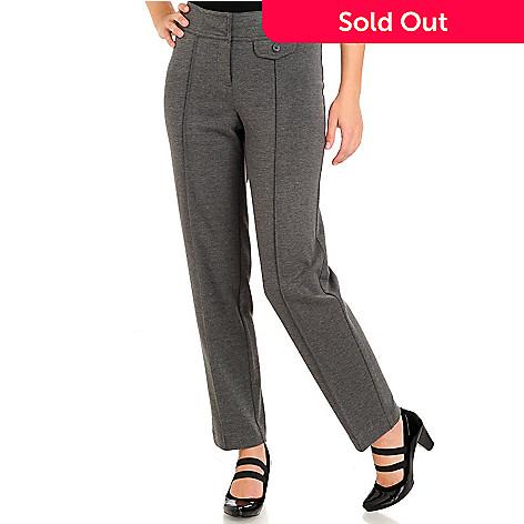 710-867 - Larry Levine Zipper Front Ponte Ankle Pants