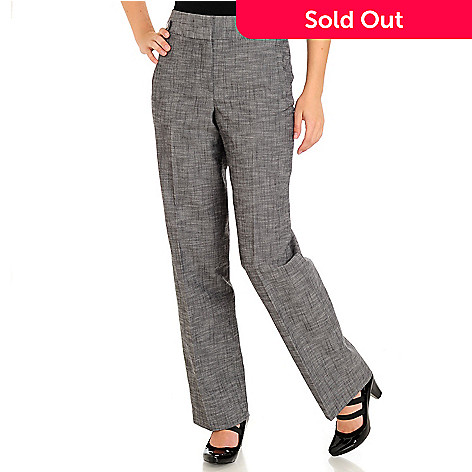710-869 - Larry Levine Zipper Front Two Pocket Side Tab Dress Pants