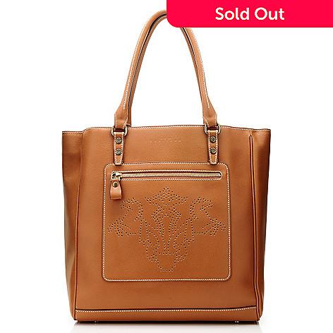 710-969 - PRIX DE DRESSAGE Leather ''Stature'' Perforated Tote Bag