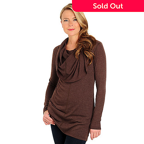711-037 - Kate & Mallory Long Sleeved Cowl Neck Tunic Top